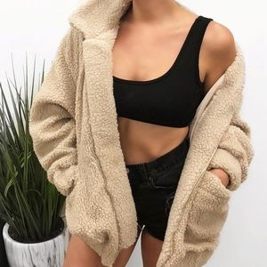 Teddy Oversized Sherpa Jacket